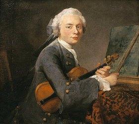 Jean-Baptiste Siméon Chardin: Bildnis des Charles Godefroy mit Violine