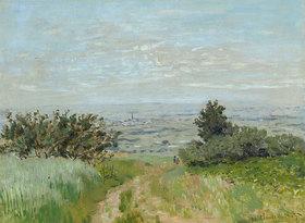 Claude Monet: Ansicht von Argenteuil mit den Hügeln von Sannois (Vue de plaine à Argenteuil, coteaux de Sannois)