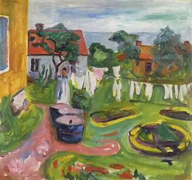 Edvard Munch: Wäsche auf der Leine
