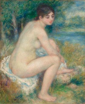 Auguste Renoir: Badende, sich den Fuß abtrocknend