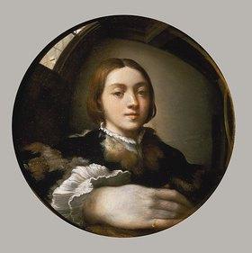 Parmigianino (Francesco Mazzola): Selbstbildnis im Konvexspiegel