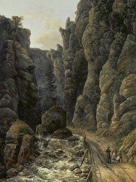 Johan Christian Clausen Dahl: Schlucht in der sächsischen Schweiz