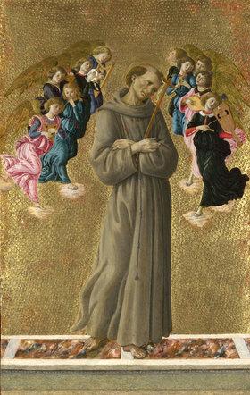 Sandro Botticelli: Heiliger Franziskus mit Engeln