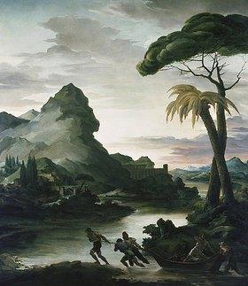 Théodore Géricault: Heroische Landschaft mit Fischern
