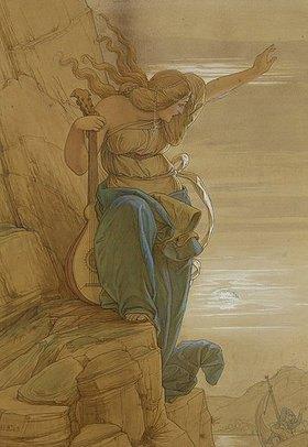 Edward Jakob von Steinle: Loreley (Entwurf zum Gemälde, siehe Bildnummer 331)
