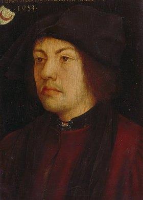 Hans Burgkmair d.Ä.: Bildnis des Martin Schongauer (?)