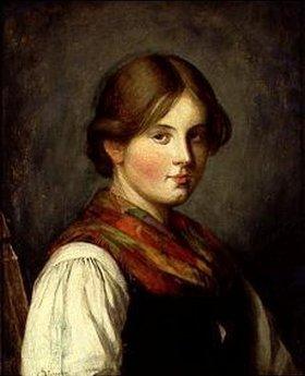 Franz von Defregger: Junges Bauernmädchen