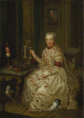 Johann Georg Ziesenis: Elisabeth Augusta in ihrem Kabinett
