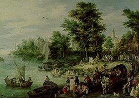 Jan Brueghel d.Ä.: Landungsplatz