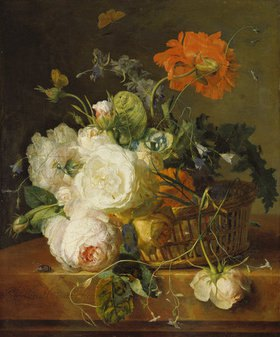 Jan van Huysum: Korb mit Blumen. (o.J.)