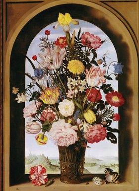 Ambrosius d.Ä. Bosschaert: Blumenstrauß im Fenster