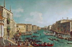 Canaletto (Giov.Antonio Canal): Regatta auf dem Canale Grande vor dem Palais Ca'Foscari