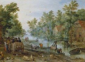 Jan Brueghel d.J.: Belebte Straße