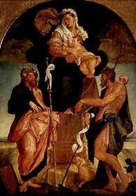 Bassano (Jacopo da Ponte): Madonna mit den hll.Jakobus d.Ä. und Johannes d.Täufer