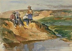 Anton Braith: Kinder am Ufer