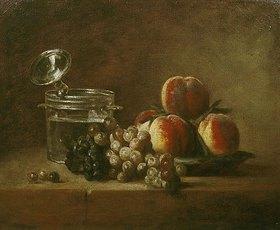 Jean-Baptiste Siméon Chardin: Obststilleben mit Deckelkrug
