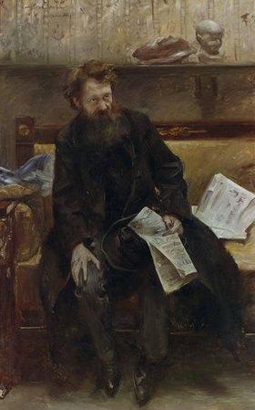 Lovis Corinth: Der Dichters Peter Hille, Bildnis
