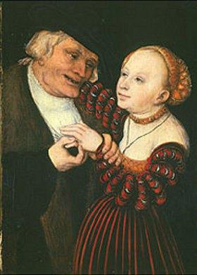 Lucas Cranach d.Ä.: Der Alte und das Mädchen. 1530(?)
