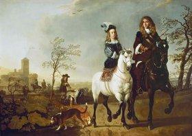 Aelbert Cuyp: Reitendes Paar