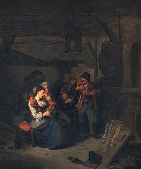 Cornelis Bega: Bäuerliches Interieur
