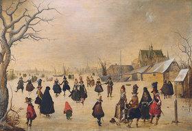 Adam van Breem: Elegante Gesellschaft auf dem Eis