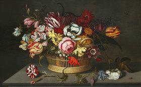 Ambrosius d.J. Bosschaert: Blumenkorb