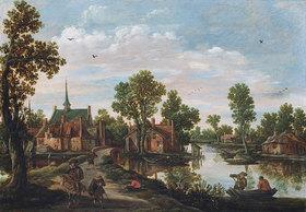 Jan van Goyen: Landschaft mit Blick auf Leiderdorf