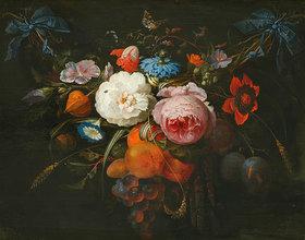 Abraham Mignon: Blumengirlande