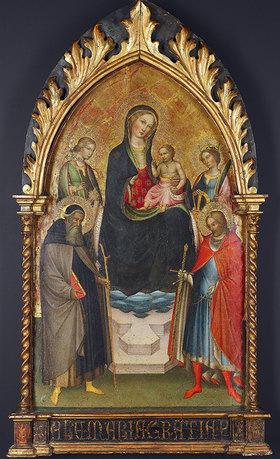 Giovanni di Tano Fei: Madonna mit Kind und Heiligen