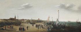Hendrik Cornelisz Vroom: Strandlandschaft bei Scheveningen