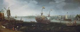 Cornelis Claesz van Wieringen: Ein Handelsschiff vor dem Hafen von Vlissingen