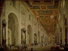 Giovanni Paolo Pannini: Innenansicht der Kirche San Giovanni in Laterano in Rom