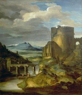 Théodore Géricault: Landschaft mit römischem Grabmal (Der Morgen)
