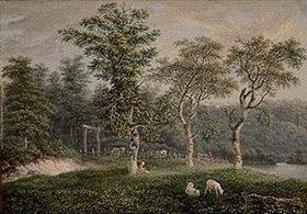 Salomon Gessner: Baum- und Weidenlandschaft
