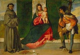 Giorgione (G.da Castelfranco): Die Jungfrau mit dem Kind zwischen den hll. Rochus und Antonius