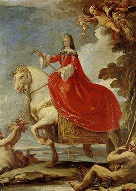Luca (Fa Presto) Giordano: Dona Mariana von Neuburg zu Pferde