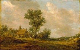 Jan van Goyen: Landschaft mit Bauernhäusern