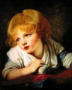 Jean Baptiste Greuze: Ein Kind mit einem Apfel
