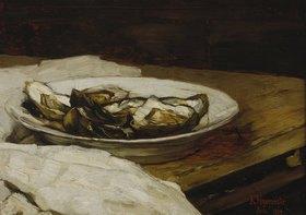 Karl Hagemeister: Teller mit Austern