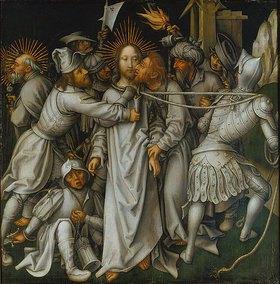 Hans Holbein d.Ä.: Sogenannte Graue Passion:Gefangennahme Christi
