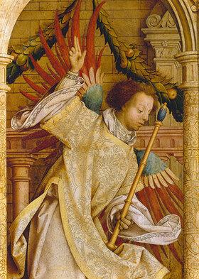 Hans Holbein d.Ä.: Verkündigungsengel. Detail von der Flügelaußenseite des Sebastians-Altars