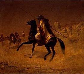 Theodor Horschelt: Ein Araber zu Pferde