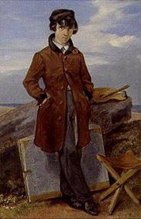 Georg Friedrich Kersting: Hermann Kersting als Landschaftsmaler