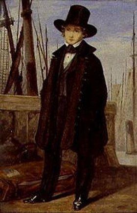 Georg Friedrich Kersting: Richard Kersting vor seiner Abreise nach Riga