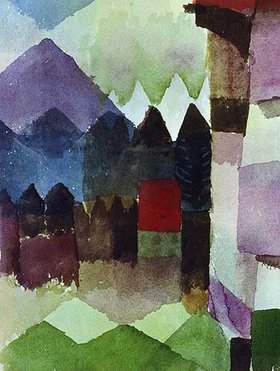 Paul Klee: Föhn im Marc'schen Garten. 1915