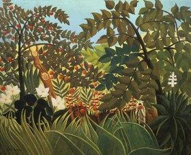 Henri Rousseau: Exotische Landschaft mit spielenden Affen