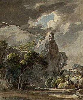 Wilhelm von Kobell: Motiv aus der Sächsischen Schweiz