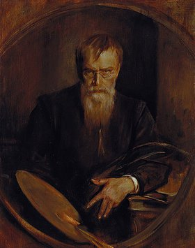 Franz von Lenbach: Letztes (?) Selbstbildnis