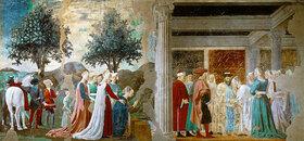Piero della Francesca: Die König in Saba bei König Salomon. Episoden aus dem Zyklus vom Heiligen Kreuz