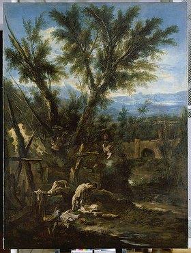 Alessandro Magnasco: Landschaft mit Mönchen